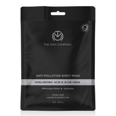 The Man Company Anti-Pollution Charcoal Face Sheet Mask
