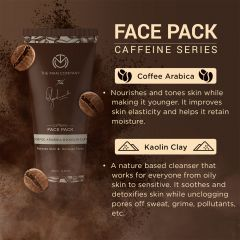 The Man Company Caffeine Face Pack with Coffee Arabica & Kaolin Clay