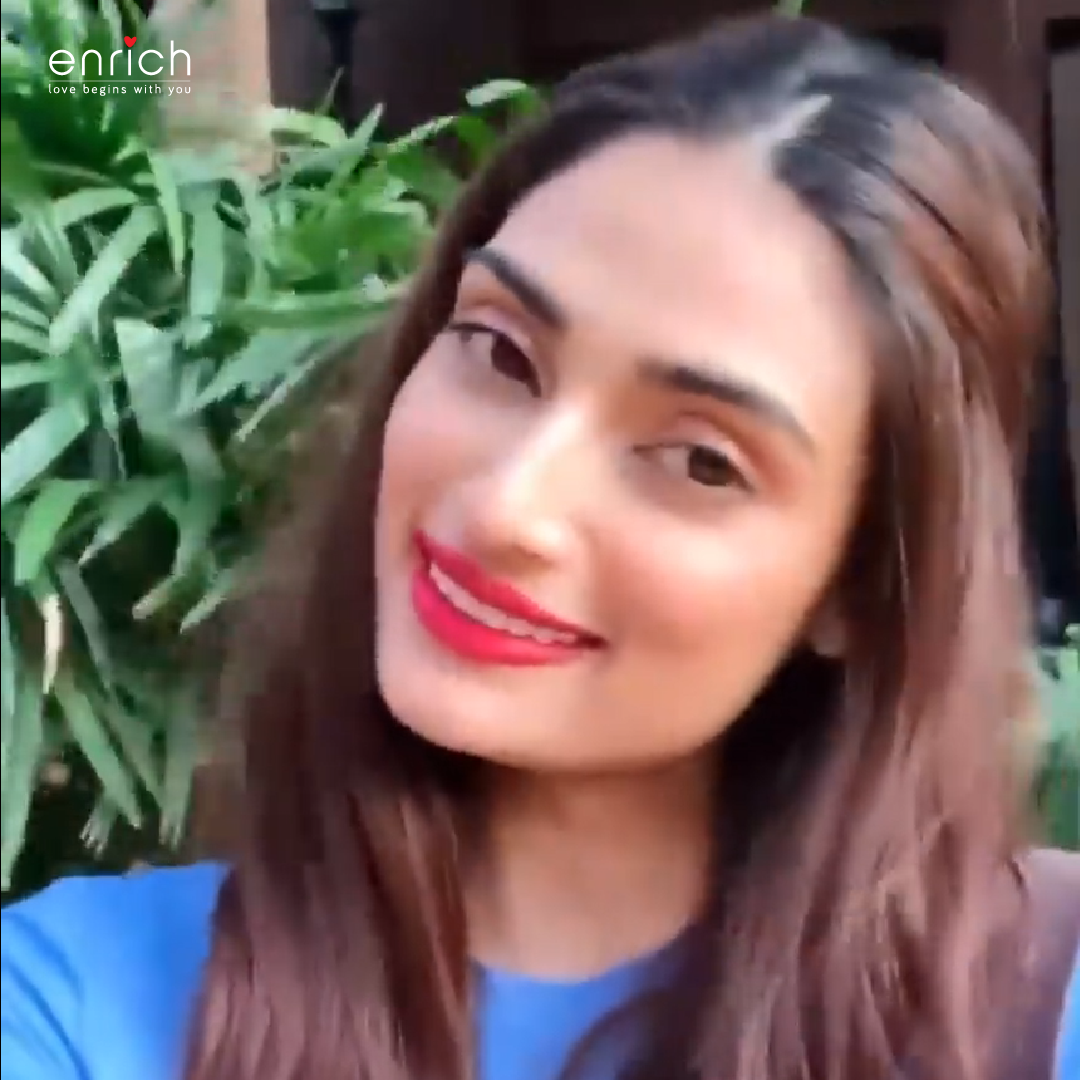 @athiyashetty has bought her I Love Me package to pamper herself at Enrich.