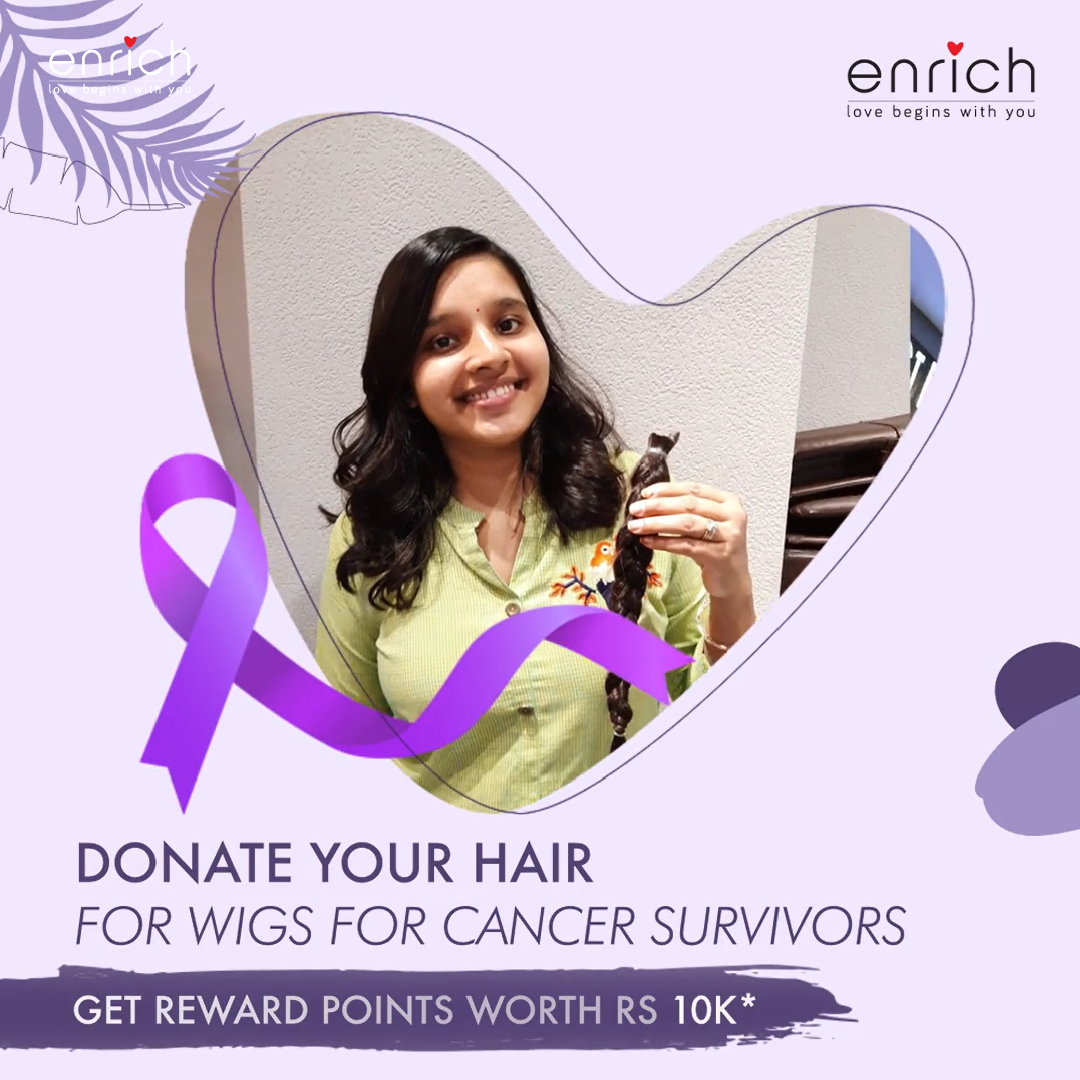Your haircut at Enrich could be more meaningful, thanks to our Cope with Cancer initiative.