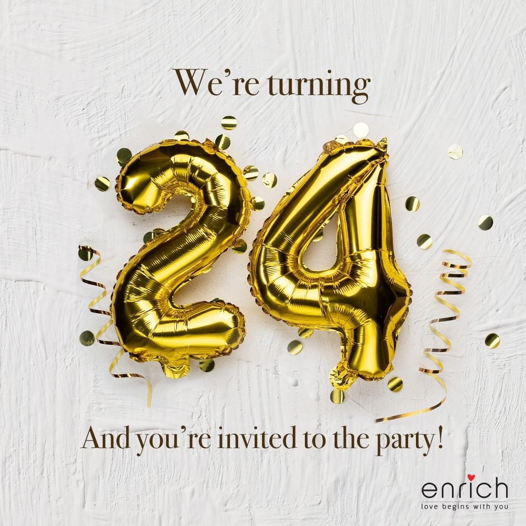 It's our 24th birthday today!