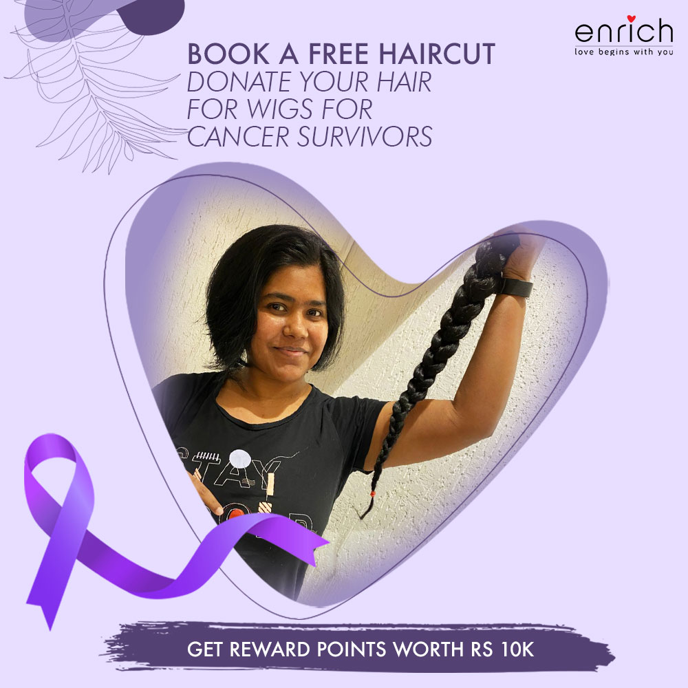 Your long hair can serve a beautiful purpose, when you join us alongside Cope with Cancer.