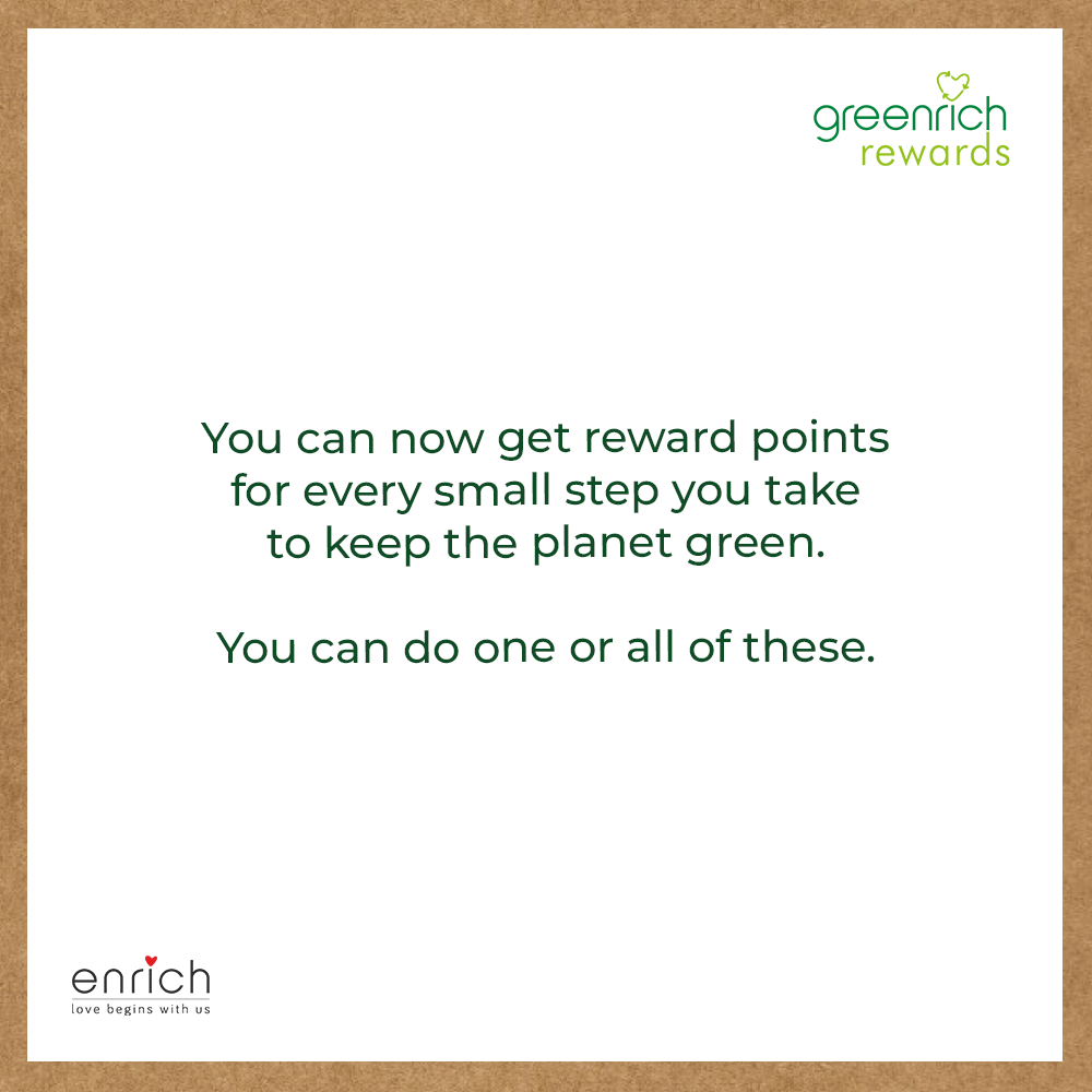 We love it when you care for the planet by recycling.