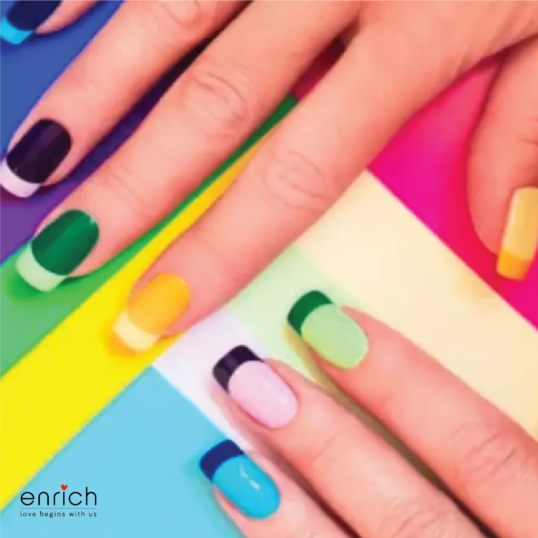Try DIY nail art at home for your special day